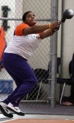 Waller Wins Weight Throw, Improves NCAA Standing at Virginia Tech Qualifier