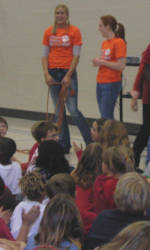 Solid Orange Squad Members Visit Mt. Lebanon Elementary School