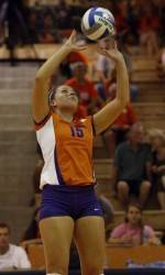 Clemson Volleyball Powers Past Boston College, 3-0, on Saturday