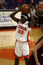 Lady Tigers Defeat College of Charleston, 64-42, On Monday Night