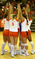 Volleyball Downs Georgia, 3-0, In Spring Action