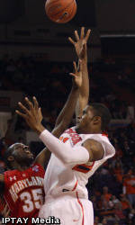 Late Comeback Attempt Falls Short as Maryland Defeats Clemson, 64-62
