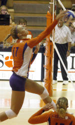 Tiger Volleyball Storms Past Furman, 3-0, on Wednesday in Clemson Classic