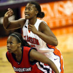 Lady Tigers Win 80-72 Over Duquesne Wednesday Night