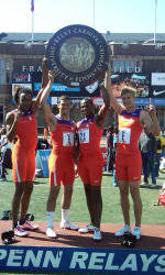 Men's Shuttle Hurdle Relay Wins Championship of America at Penn Relays