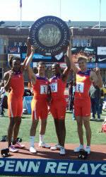 Men's Shuttle Hurdle Relay Wins Championship of America at Penn Relays