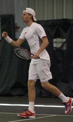Cedric Willems Making an Immediate Impact for Men's Tennis