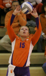 Clemson's Brenner Named ACC Volleyball Freshman of the Week
