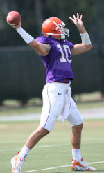 Clemson Practices in Full Pads for First Time