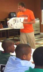 Clemson Community Relations Group Visits Frazee Dream Center in Greenville, SC