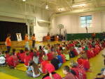 Solid Orange Squad Visits Slater-Marietta Elementary