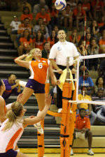 Tiger Volleyball Downs Florida State, 3-0, On Saturday