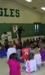 Tiger Student-Athletes Visit Cherokee Trail Elementary School