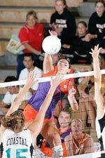 Clemson Downs Wofford 3-0 on Tuesday in Volleyball Action