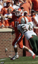 Clemson Can't Overcome No. 16 Miami, Falls 30-21
