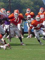 Tigers Compete in Saturday Scrimmage in Death Valley
