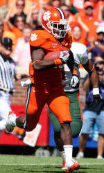 Ellington Leads Clemson to 31-7 Win Over Maryland