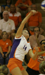 Clemson Volleyball Stays Perfect with 3-0 Win at Winthrop