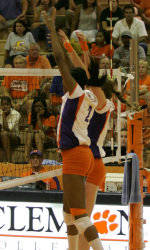 Clemson Escapes College of Charleston Unbeaten Behind 20 Yaz Kills