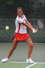 Women's Tennis Edged By #4 Georgia, 4-3, On Wednesday