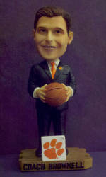 First 2,000 Fans at Clemson vs. Maryland Game to Receive Brad Brownell Bobbleheads