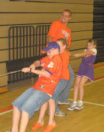 Clemson Baseball and Track & Field Athletes Help Out at Tiger Cub Birthday Party
