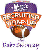 Wendy's Recruiting Wrap-Up with Dabo Swinney to be Held Wednesday, February 1