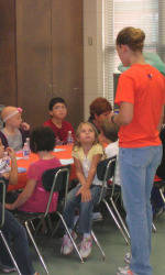 Solid Orange Squad Members Visit Six Mile Elementary School