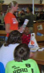 Solid Orange Squad Visits Starr-Iva Middle School