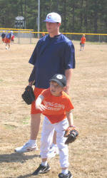 Tiger Baseball Team Puts on Skills Clinic for Area Youth at Nettles Park Field Dedication