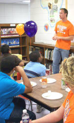 Clemson Student-Athletes Visit Edwards Middle School