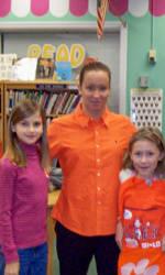 Sarah Porri and Xavier Dye Visited Ware Shoals Elementary School Monday