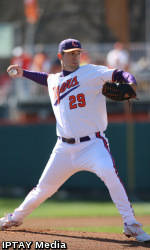 Haselden Pitches Tigers to 9-2 Win Over Paladins Tuesday