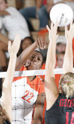 Tiger Volleyball Defeats N.C. State In Five-Game Thriller Friday Night