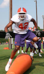 Clemson Holds Fourth Practice