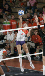 Clemson Volleyball Downs N.C. State, 3-1, on Saturday