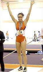 Clemson Women's Track And Field Team In Fourth Place After Day One of the ACC Indoor Championships