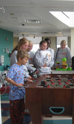 Tiger Women's Soccer Team Visits Greenville Children's Hospital