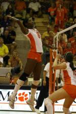Tiger Volleyball Downs Virginia Tech, 3-0, On Saturday Night