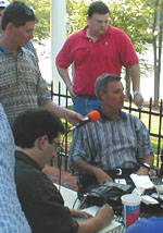 Media Visits Tommy Bowden At His House