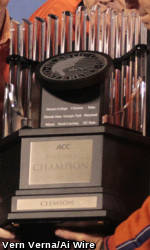 Clemson's 2011 ACC Championship Trophy to be Displayed at Various Locations This Week