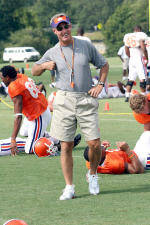 Rain Dampens Clemson's First Day in Pads