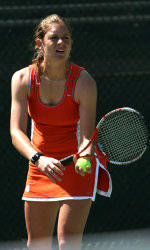 Former Tiger Julie Coin Knocked Out of Singles Play at the U.S. Open
