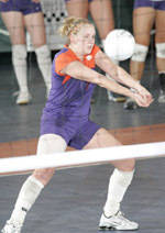 Clemson Falls To North Carolina, 3-0, In Volleyball Action Saturday Night