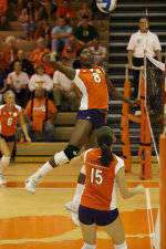 Clemson's Danielle Hepburn Named ACC Volleyball Player of the Week