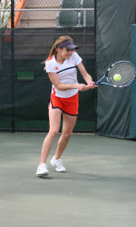 Tigers Down Virginia, 7-0, In Sunday Women's Tennis Action
