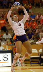 Adeleye Powers Tigers Past Loyola in Volleyball Season-Opener