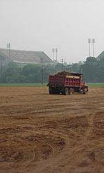 Ground Work Begins on Indoor Track Facility