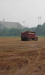 Ground Work Begins on Indoor Track Facility