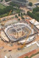 Aerial Photo Taken of Littlejohn Coliseum